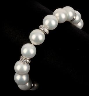 Perlenarmband  Elegantes Perlenarmband einreihig